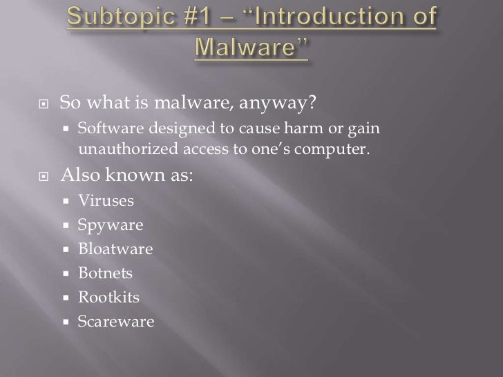 Rootkits - Research Paper Example