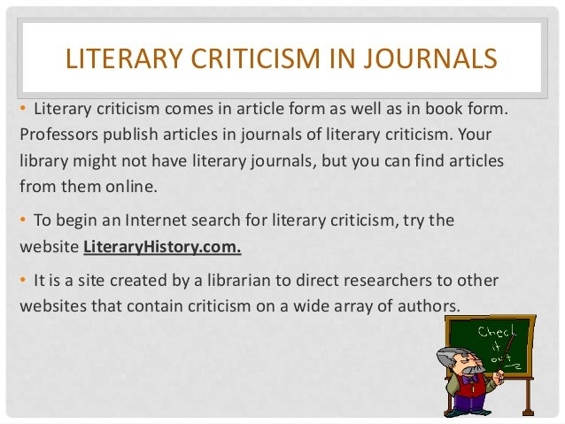 Researching literary criticism?