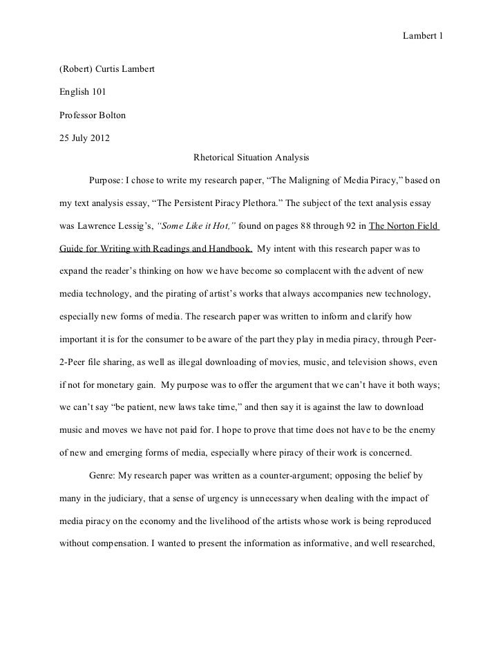 Free sample of compare and contrast essay?
