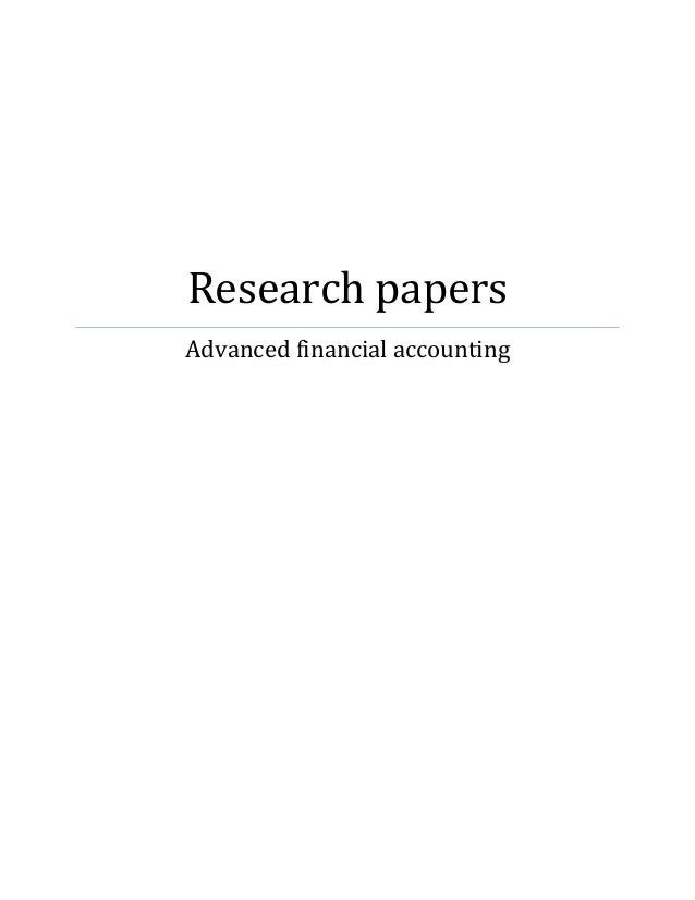 research paper on financial statements Financial statements help to understand the financial health of a company however,when accounts are manipulated,it provides a negative usage to stakeholders.