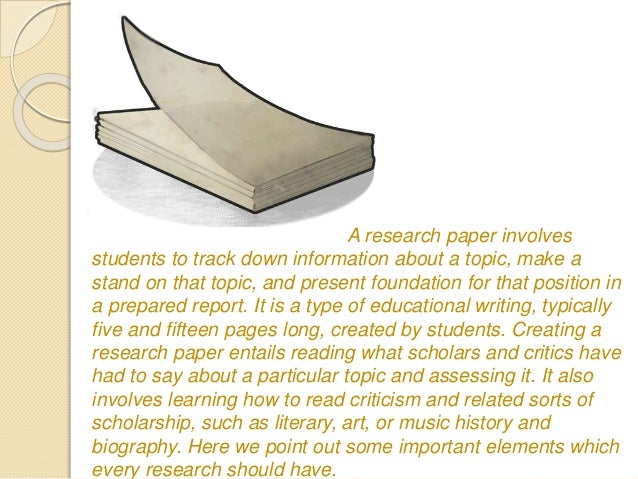 elements of an effective research paper 3 elements you should include in the introduction of a research paper the introduction to a research paper is exactly what it sounds like it's an introduction to.