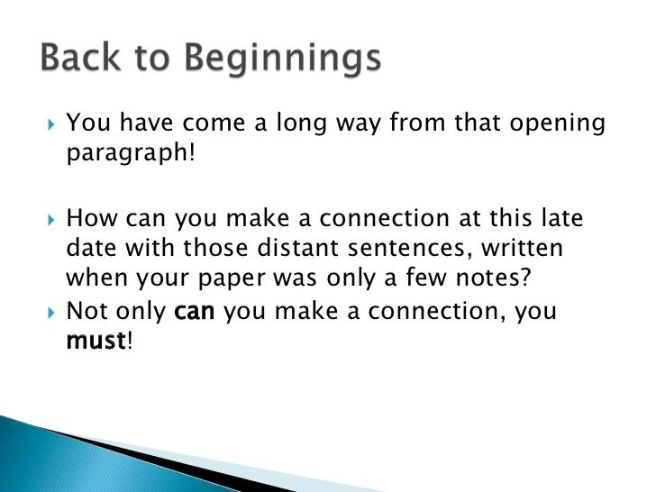 How to Start Conclusion Paragraph