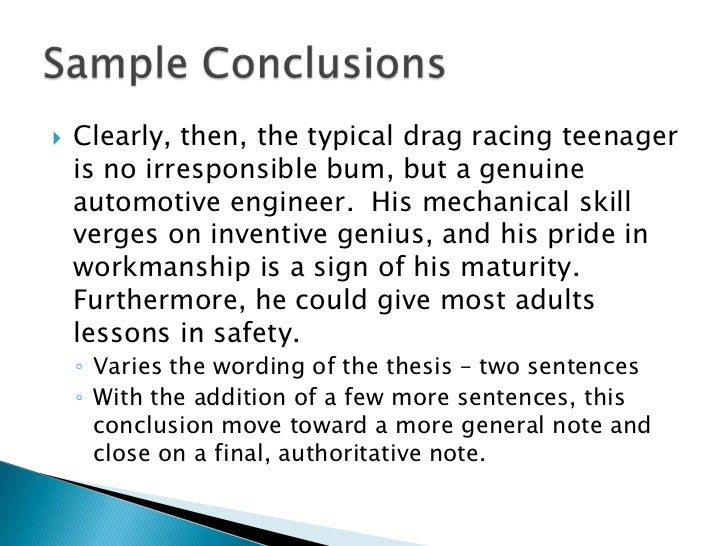 Writing A Conclusion For A Research Paper