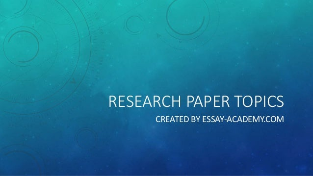 technical research paper topics
