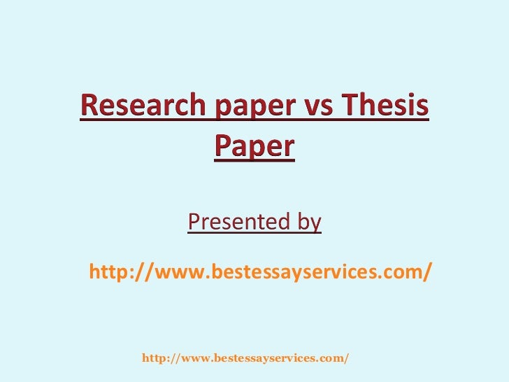Thesis vs research report