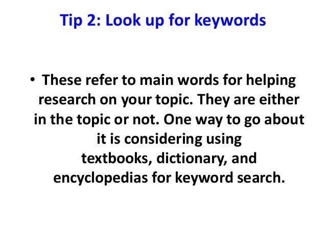 paper research tip Seven tips for writing a good paper good writing benefits both students and teachers posted may 10, 2011.