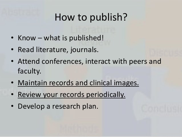 How to publish a medical research paper?