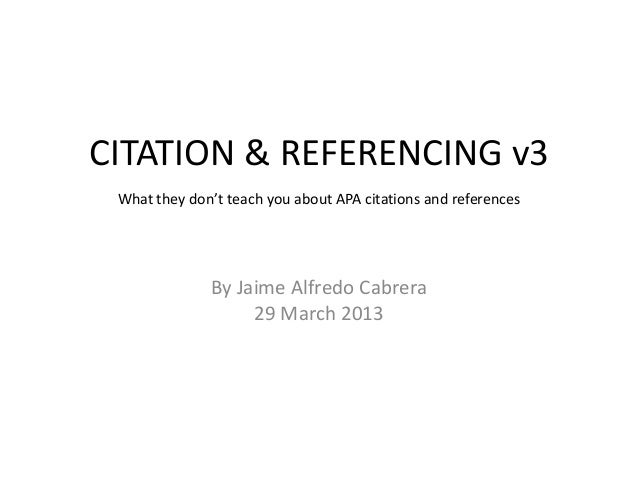 Research Paper Writing - Citation  & Referencing Quicktips