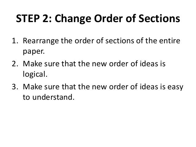 Order of sections in research paper
