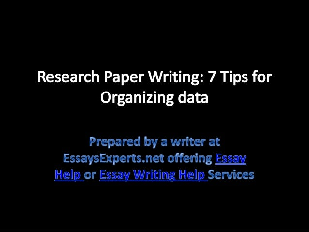 organizing your research paper