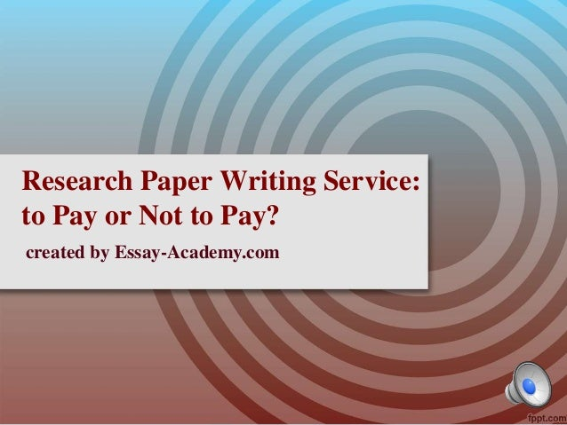 Paid Research Paper Writing
