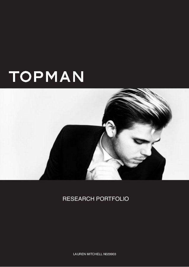 Topman Research Portfolio