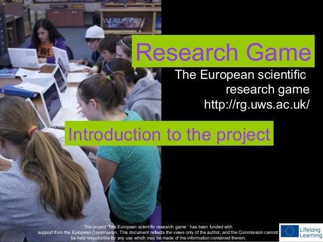 European 'Research Game'