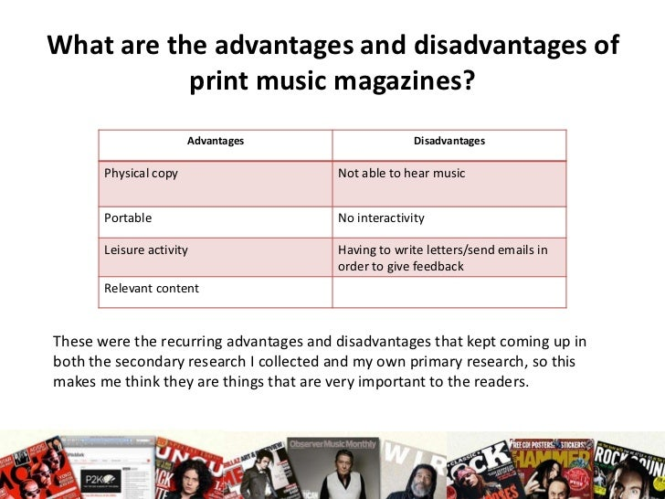advantages and disadvantages of the internet on music The internet has transformed the world and the music industry as we know it  before everybody was hooked up to the world wide web, the.