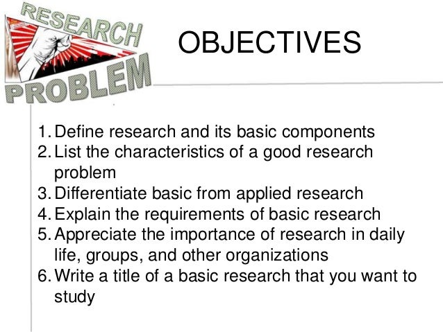 Components of a good research study