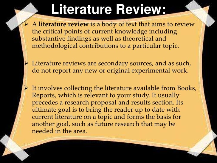 Extensive literature survey