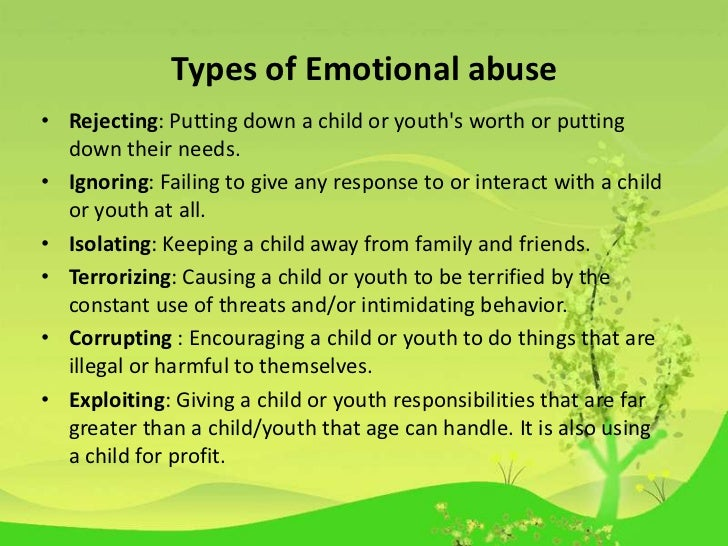 emotional abuse research paper To determine whether child abuse and neglect predicts report a high prevalence of childhood abuse research in the general the emotional abuse subscale.