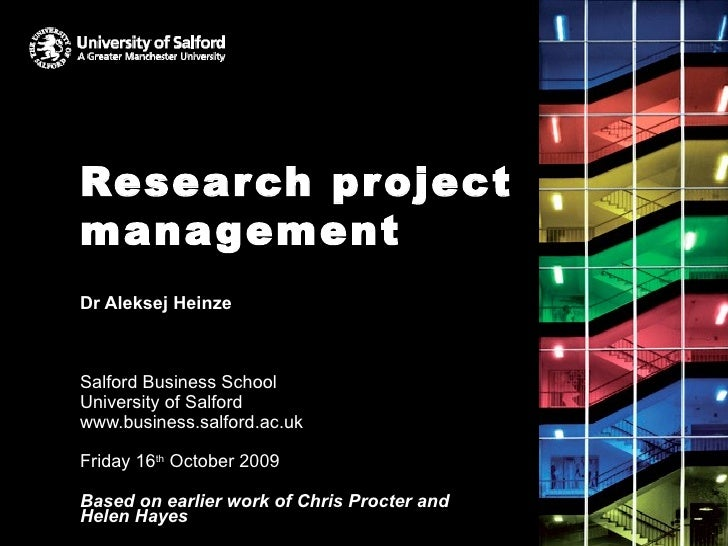 Research Project Management