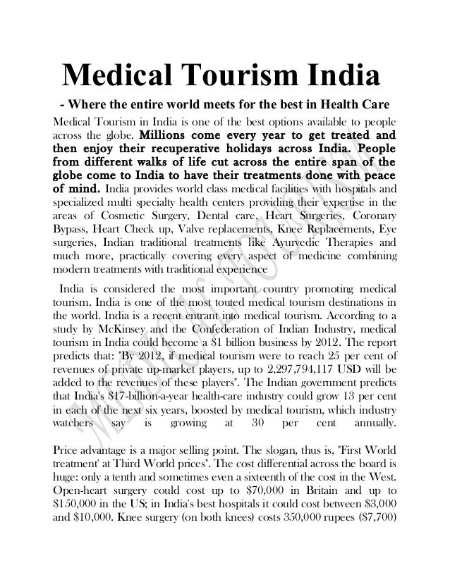 Medical tourism research papers