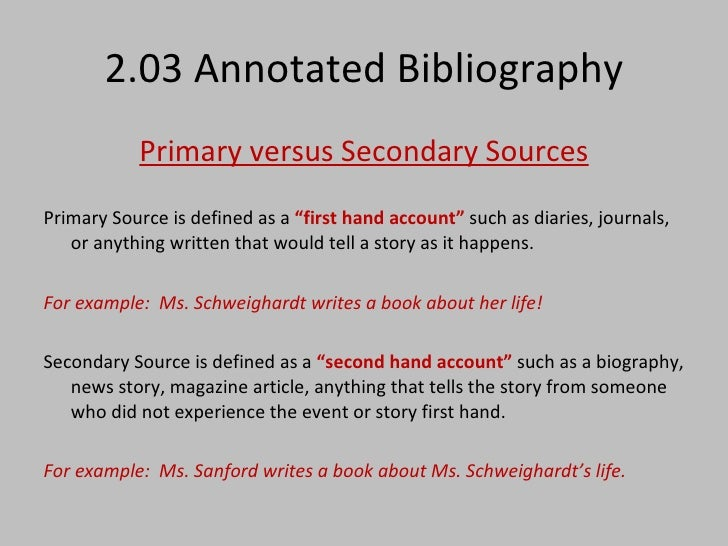 Bibliography of sources
