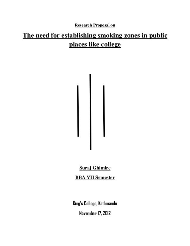 Research Proposal on The need for establishing smoking zones in public places like college Suraj Ghimire BBA VII Semester ...