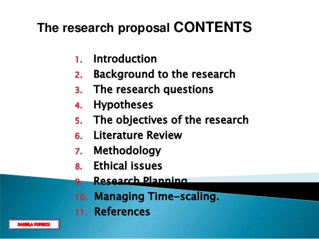 Research Proposal Contents Introduction Paragraph Essay Business