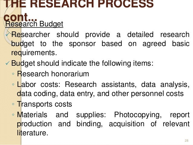 Contents Of Research Proposal