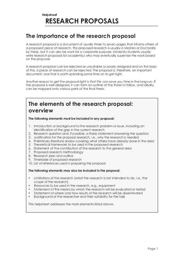 how to write standpoint for research proposal