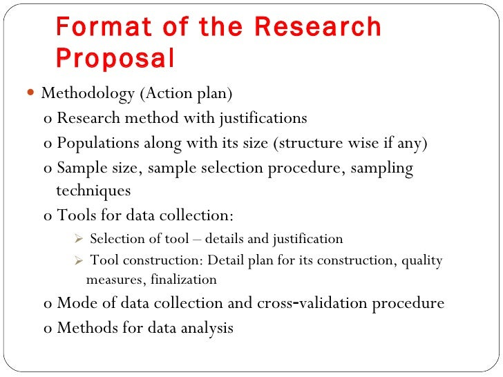 Dissertation proposal action plan