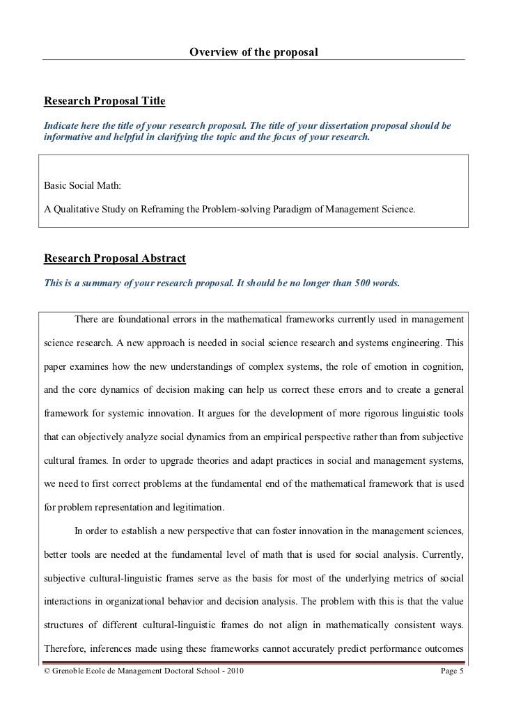 Concept paper for dissertation example