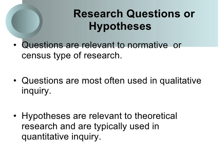 hypothesis in research proposal