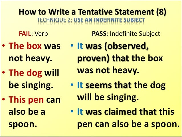 how to write a tentative thesis