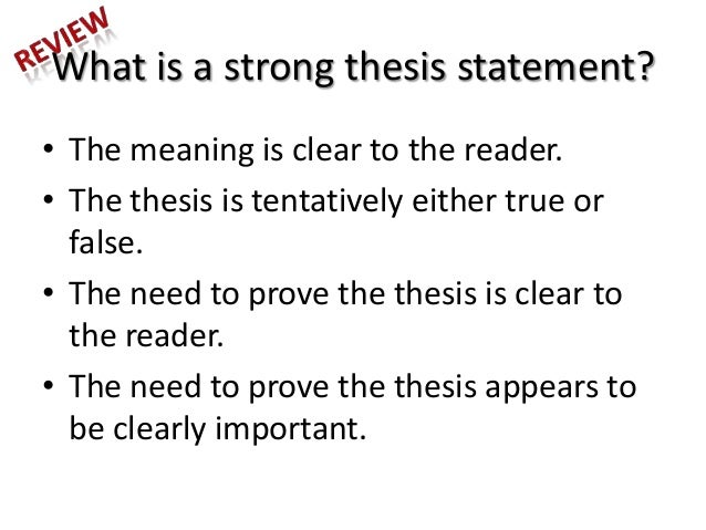 3 parts of thesis statement Chapter 3: quantitative master's thesis the first part of the introduction should clearly state the purpose of the study there should be a concise statement of.