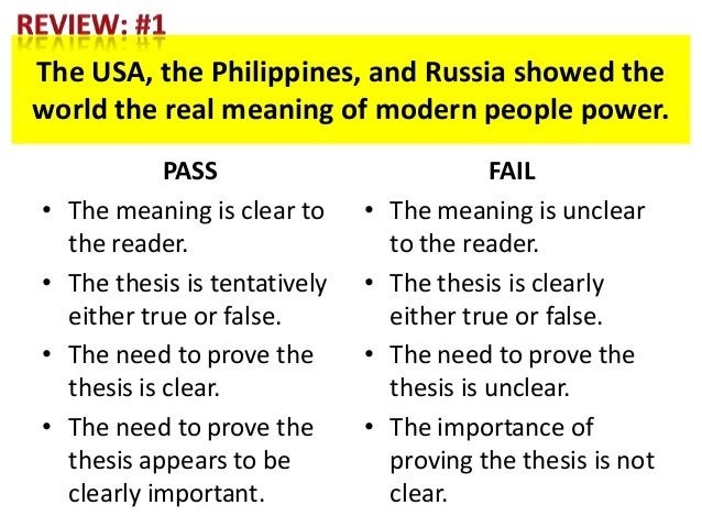 meaning of a thesis