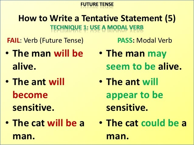 Verbs to use in thesis