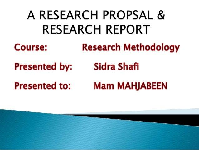 Research proposal 4presentation