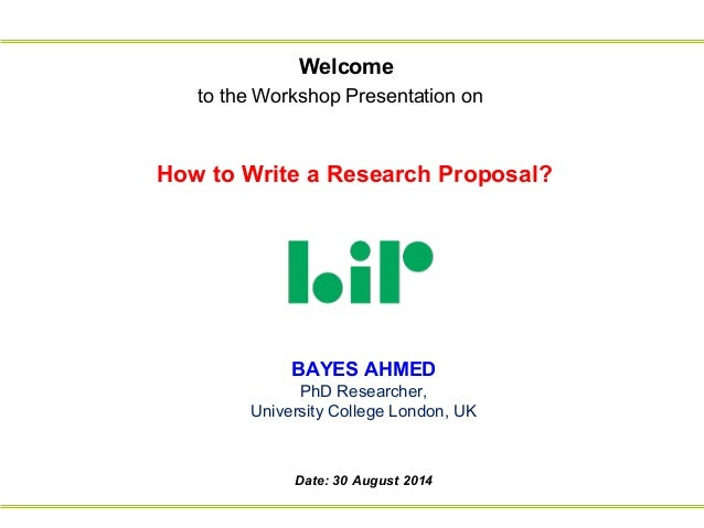 how to prepare a research proposal presentation