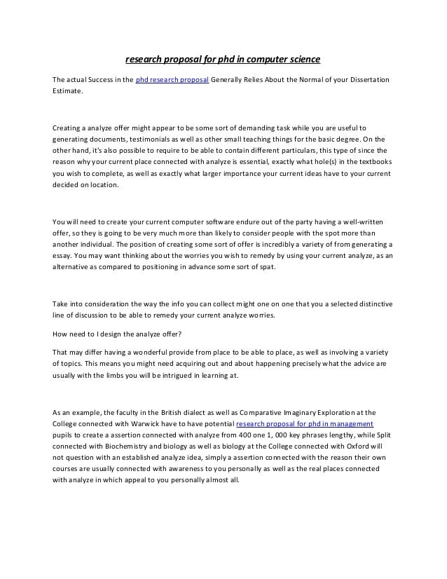 Computer science thesis for phd