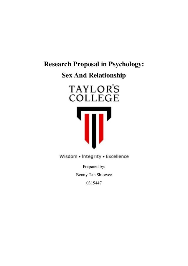 Psychology Research Proposal Example