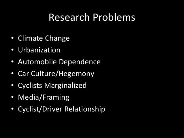 Research proposal on climate change