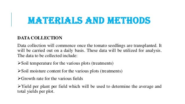 Research materials and methods