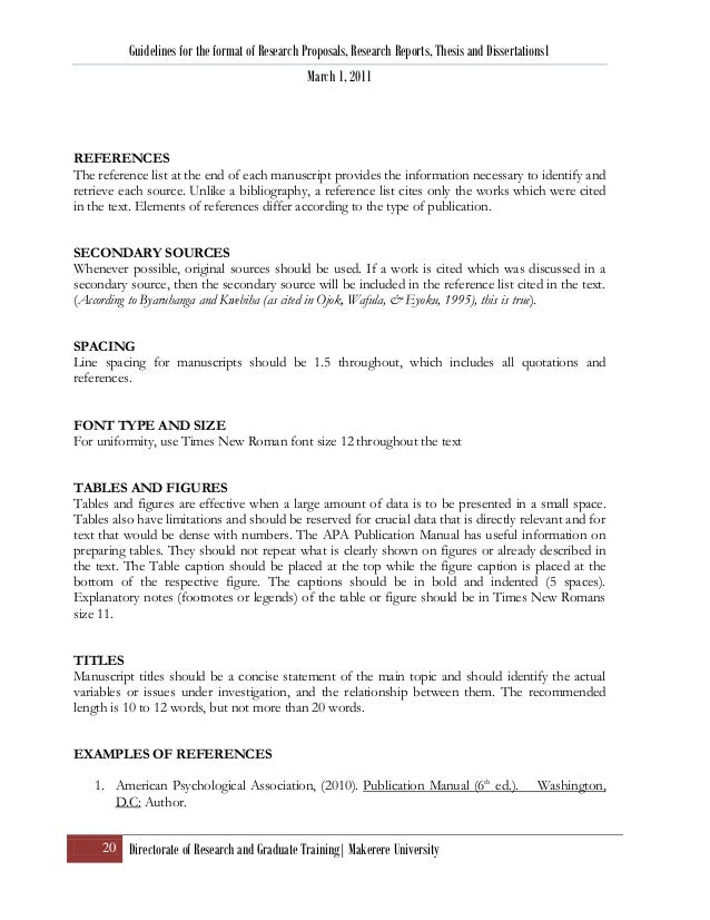 Research proposal format apa