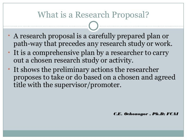 Scientific proposals
