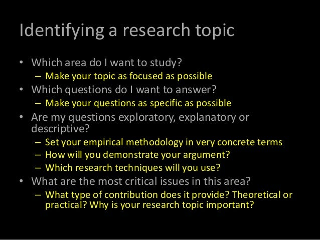 exploratory research techniques According to marshall & rossman (2010) a researcher can adopt three different kinds of research methods namely exploratory, descriptive and causal research the researcher in this case should adopt the descriptive research method ritchie et al (2013) opined that by using the descriptive method the.