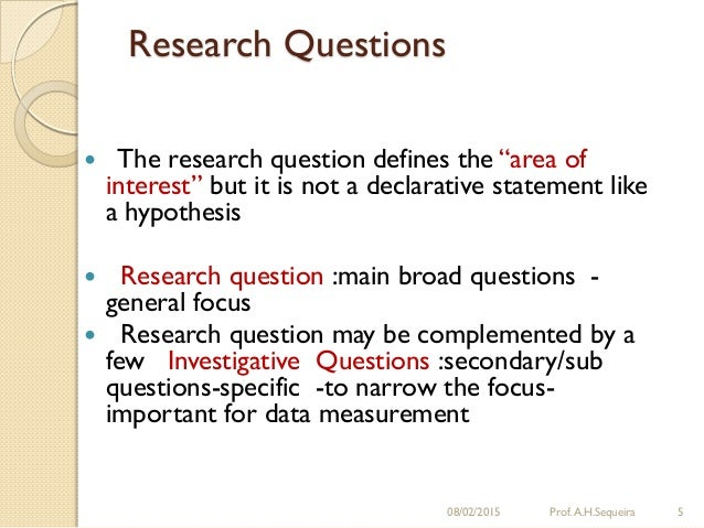 Develop Research Questions