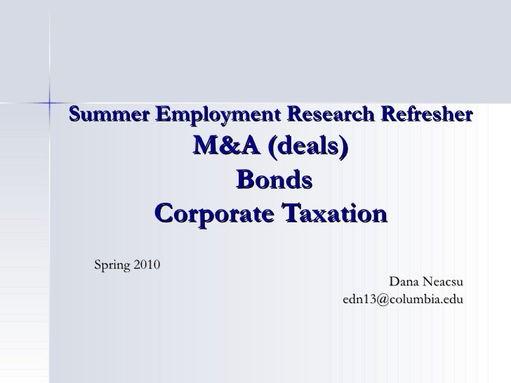 Research refresher summer associates   ma-tax