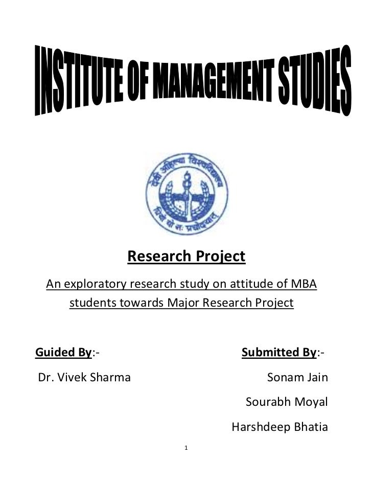 Mba research projects