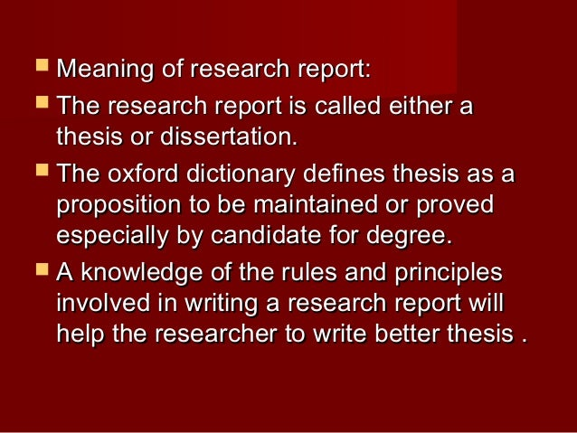 what is the difference between research thesis and dissertation
