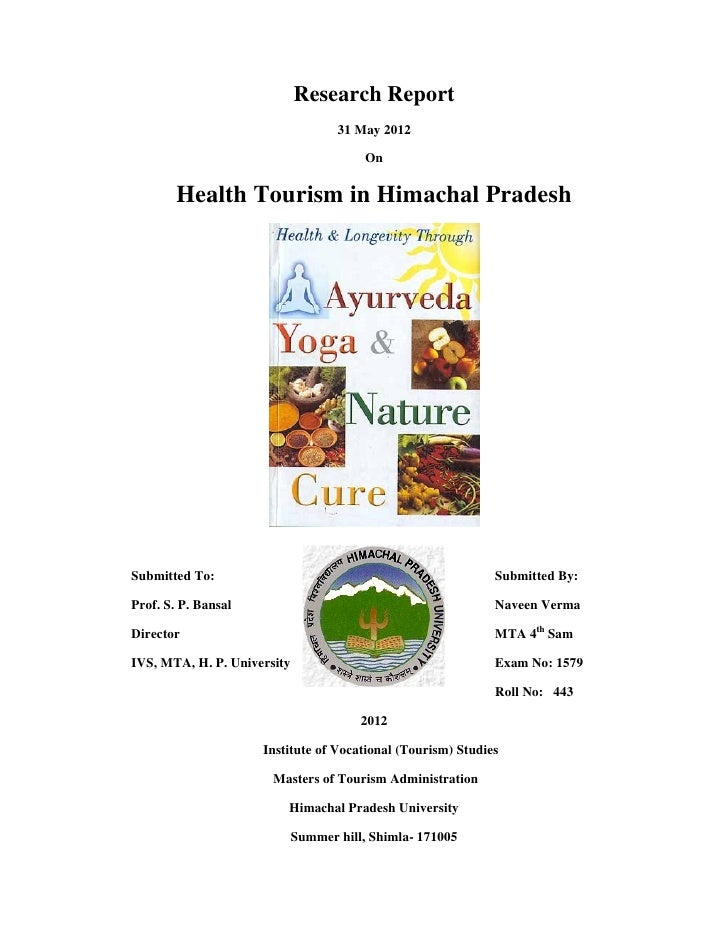 Research report   health tourism