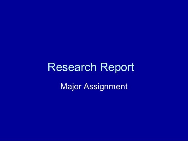 Research report 1
